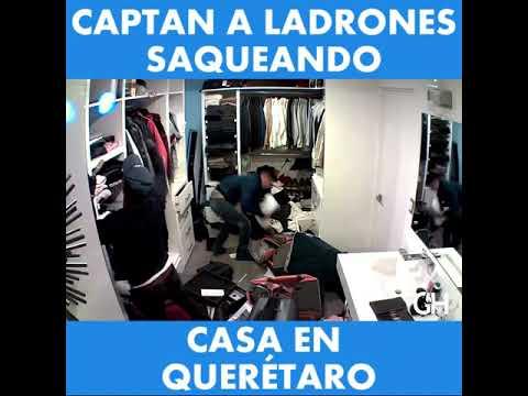 Captan a ladrones robando casa en Querétaro