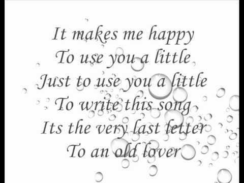 Last Letter - Katharine McPhee ( with Lyrics )