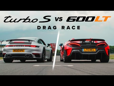 Porsche 911 Turbo S vs McLaren 600LT: DRAG RACE | Carfection 4K