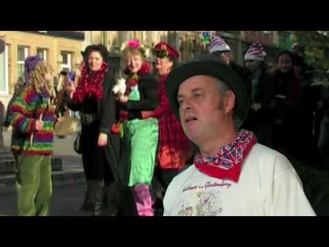 Christmas in Glastonbury. Neil and the neighbours. hd .mov