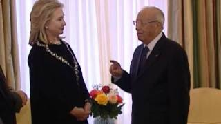 Secretary Clinton Meets With Tunisian Prime Minister Essebsi