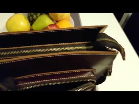 Leathario Herren Ledertasche Vintage Aktentasche