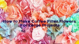 How To Make Coffee Filter Flowers (For Large Projects) Bulk Flowers With Hey Angela Marie