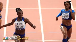 Dina Asher-Smith, Brittany Brown duel for historic 200m world title | NBC Sports