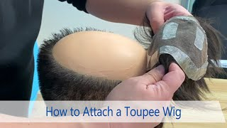 How to Attach a Hair Replacement System to Your Customer's Head