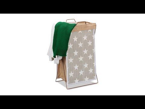 Bambus Wäschekorb Sterne 40 l