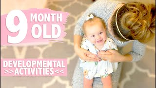 HOW TO PLAY WITH YOUR 9 MONTH OLD BABY   Developmental Milestones   Activities for Babies   CWTC