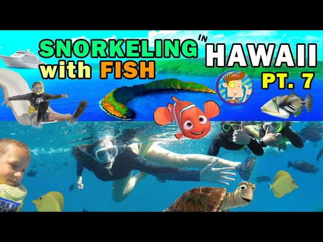 SNORKELING IN HAWAII w/ Ocean Water Slide! Swim w/ Fish @ Molokini (FUNnel Vision Trip Maui Part 7)