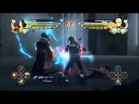 Naruto Storm 3 Hollow Matrix Clan Training: iblackkid vs infamous