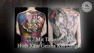 Hình Xăm Geisha Kín Lưng - Mít Tattoo