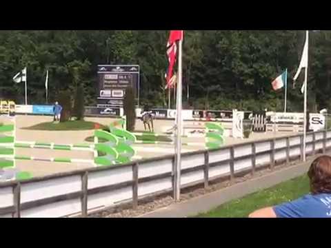 Gilles Nuytens winner 130 Jump Off Silver League Sentower