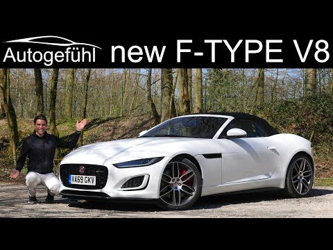 New Jaguar F-TYPE Facelift FULL REVIEW 2020 F TYPE V8 Cabriolet P450 R-Dynamic - Autogefühl