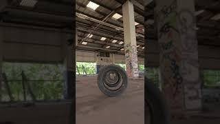 Tyre Tunnel FPV in abandoned warehouse