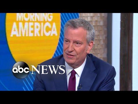 New York City Mayor Bill de Blasio announces 2020 presidential bid