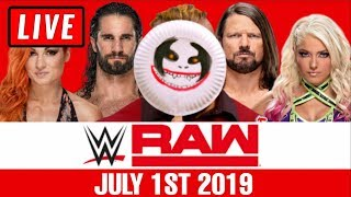 WWE Raw Live Stream - Full Show Watch Along July 1st 2019
