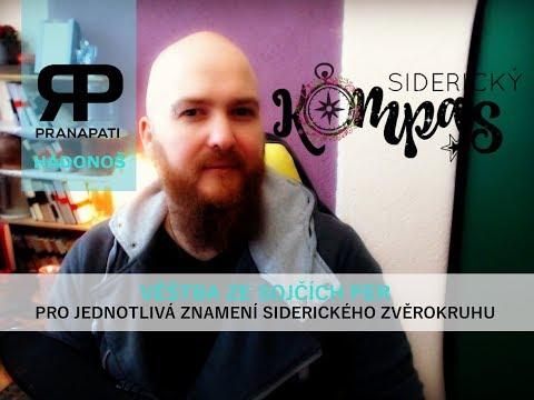 Siderický kompas - Hadonoš - listopad 2017 - věštba ze sojčích per