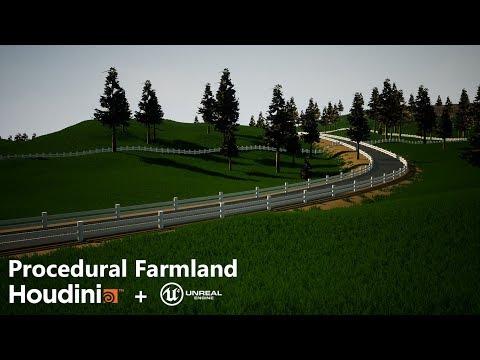 Houdini][UE4] Procedural Farmland Generation — polycount
