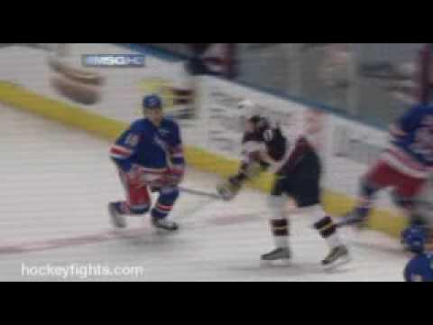 Sean Avery vs. Ilya Kovalchuk