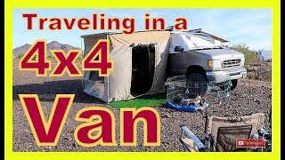 Couple Traveling in a 4x4 Van