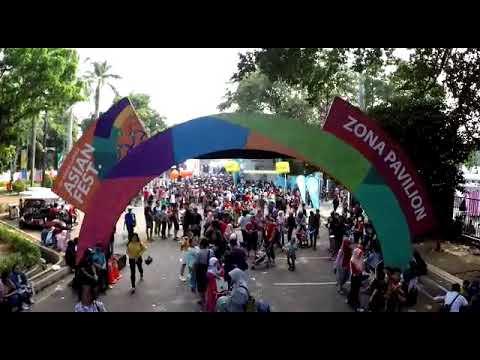 Serunya Flasmob Bank BRI di acara Closing Ceremony Asian Games 2018
