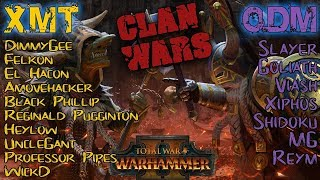 CLAN XMT vs CLAN ODM - CLASSIC CLAN WAR - Total War: Warhammer 2 | Competitive Showdown