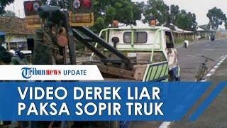 Viral Video Aksi Derek Liar Paksa Sopir Truk Diduga Terjadi di Tol Halim, Kaca Dipukul-pukul