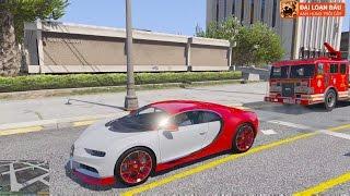 GTA 5 - Độ Siêu Xe Bugatti Chiron 2017 Solo với Xe Lửa ^_^