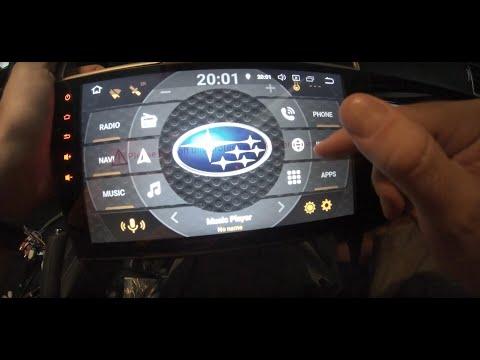 Subaru Forester/WRX/STI Android Headunit Install - смотреть