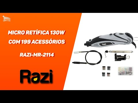 Micro Retífica 130W  com 199 Acessórios - Video