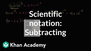 Subtracting In Scientific Notation