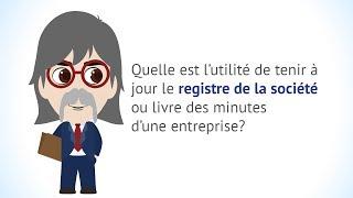 Pourquoi tenir à jour le registre de la société d'une entreprise?