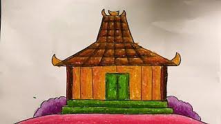 81+ Gambar Mewarnai Rumah Adat Joglo HD Terbaru
