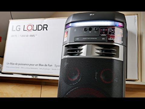 2018 Powerful LG XBOOM OK75 Music System - 1000W - BASS 400W Subwoofer