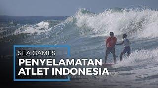 Aksi Peselancar Filipina Lepas Kesempatan Menang Demi Selamatkan Atlet Indonesia