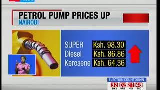 Petrol pump prices increase by Sh2.22