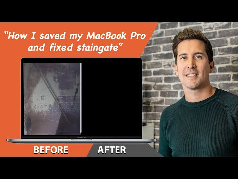 MacBook Pro Screen   How I REMOVED Anti Glare Coating STAIN   You won't believe what FIXED My Issue