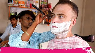 The ULTIMATE Indian HAIRCUT EXPERIENCE 3.0 - Full Shave + Massage | Sivasagar, Assam, India