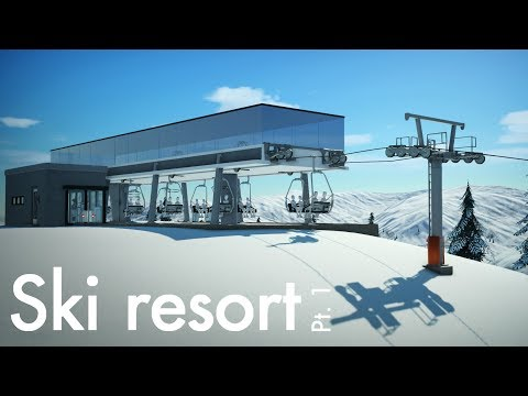 Planet Coaster - Ski Resort (Part 1) - Chairlift Overhaul