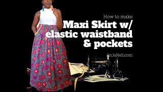 DIY Maxi Skirt W/ Large Hip Pockets Tutorial Pt.1 Pattern For Pockets And Waistband