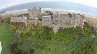 Bamburgh Castle Northumberland : DJi Phantom Vision Plus 2 Drone