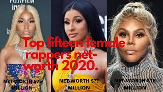 RICHEST FEMALE RAPPERS|💲TOP 15💲|2020💵🤑