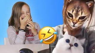 Попробуй не засмеяться Челлендж / Реакция на смешные видео