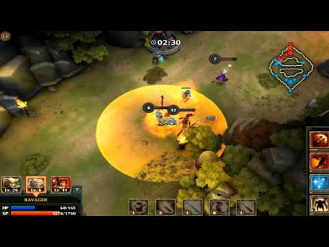 Legendary Heroes MOBA video