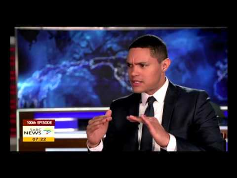Comedian Trevor Noah celebrates 100 episodes of The Daily Show