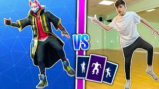 This Kid Can Do *ALL* SEASON 5 DANCES in Real Life! | Fortnite Battle Royale