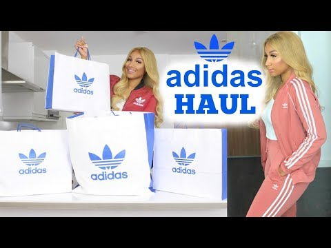 HUGE ADIDAS TRY ON HAUL - CLOTHES & SNEAKERS | SHERLINA NYM