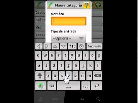 Video of Textmatic keyboard