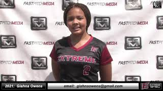 2021 Giahna Owens Pitcher Softball Skills Video - Extreme Fastpitch