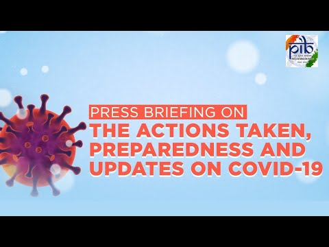 Press briefing on the actions taken, preparedness and updates on COVID-19, Dated: 03.08.2021