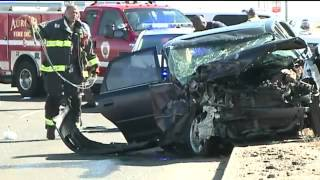 Two vehicles totaled in crash at E 470 and Colfax   FOX31 Denver